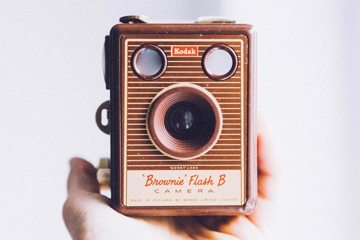 vintage Kodak Brownie Flash B camera