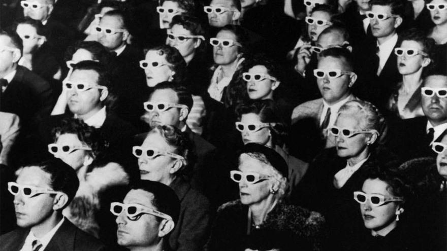 vintage cinema audience